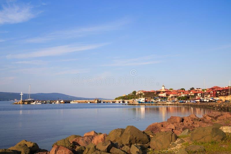 De het noordenhaven van de oude stad van Nessebar, Bulgarije royalty-vrije stock foto's