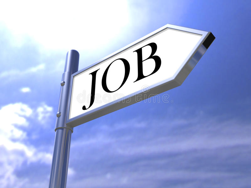 De het onderzoeksverkeersteken van de baan vinden vacature voor banen royalty-vrije stock foto's
