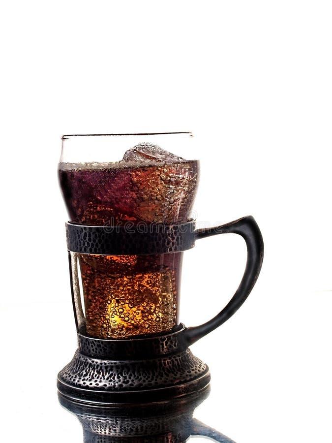 De het oude Glas en Houder van de Soda royalty-vrije stock afbeeldingen