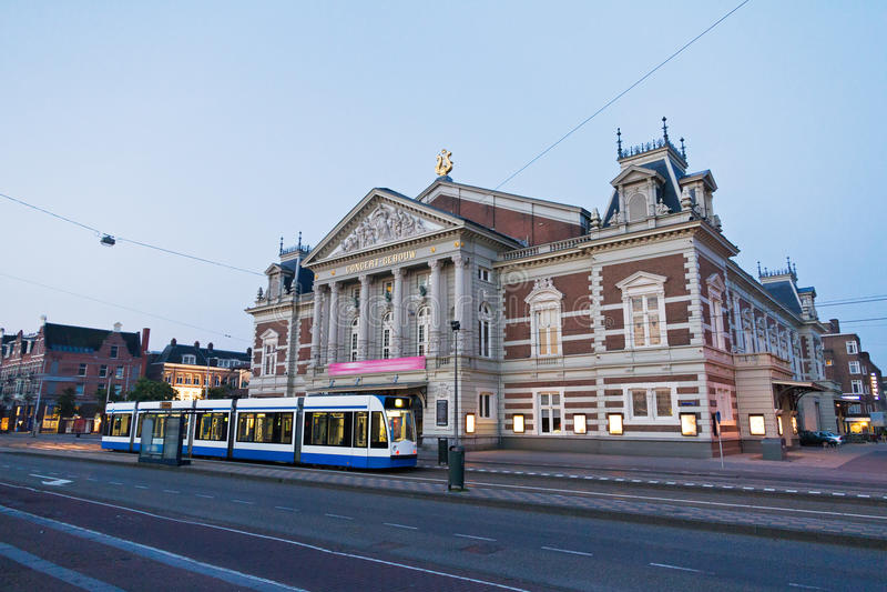 De het overlegbouw van Amsterdam stock foto's