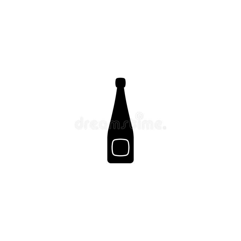 De het pictogramvector van de alcoholfles isoleerde 3 vector illustratie
