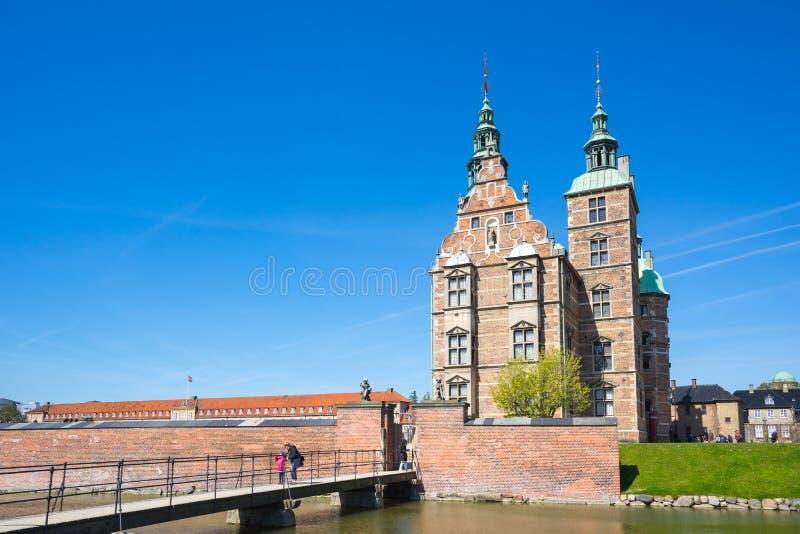 De het Rosenborg-Kasteel of Rosenborg-Groef in Kopenhagen, Denemarken stock foto's