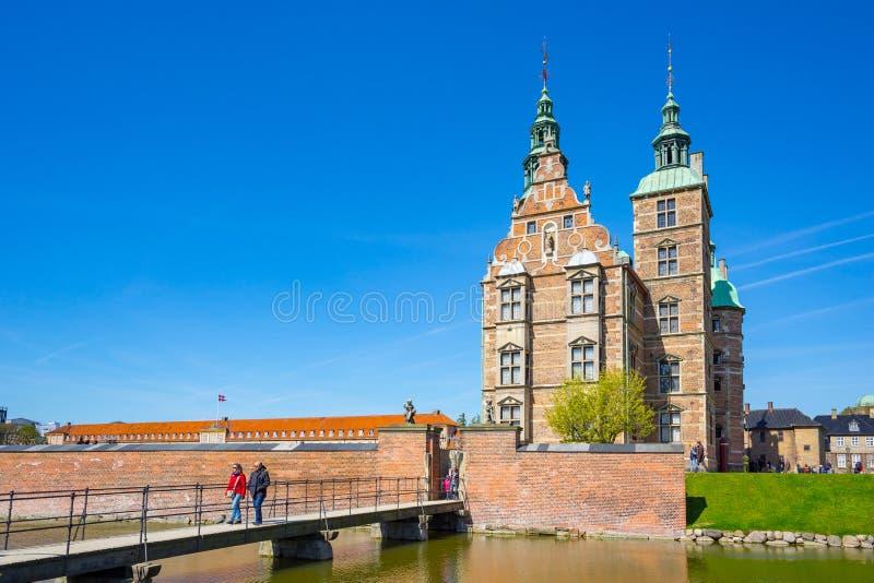 De het Rosenborg-Kasteel of Rosenborg-Groef in Kopenhagen, Denemarken royalty-vrije stock afbeelding