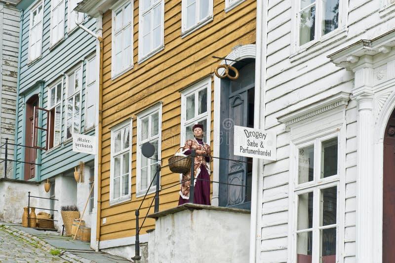 De het Schilderen Workshops en Schoonheidsmiddelenopslag in Gamle Oud Bergen Museum royalty-vrije stock fotografie