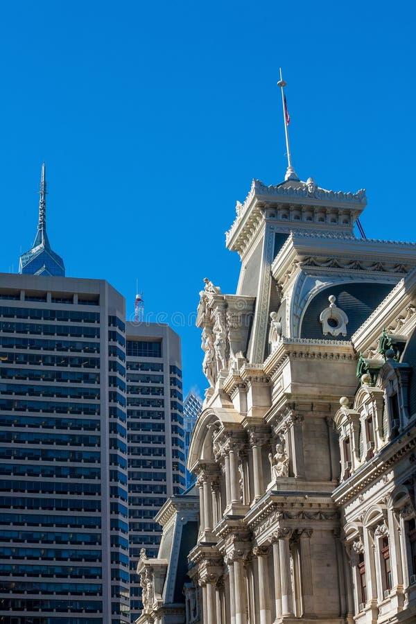 De het Stadhuisbouw van Philadelphia. stock foto's