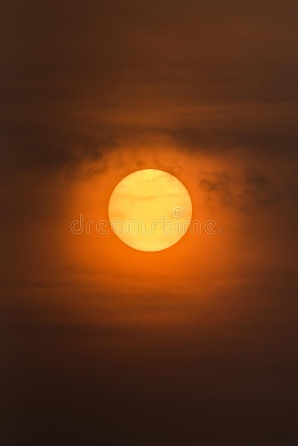 De het toenemen zon stock afbeelding