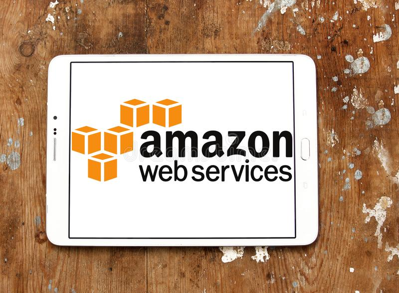 De het Webdiensten van Amazonië, AWS, embleem stock foto's