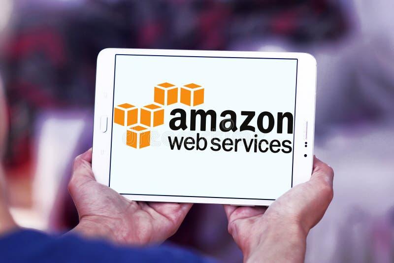 De het Webdiensten van Amazonië, AWS, embleem stock afbeeldingen