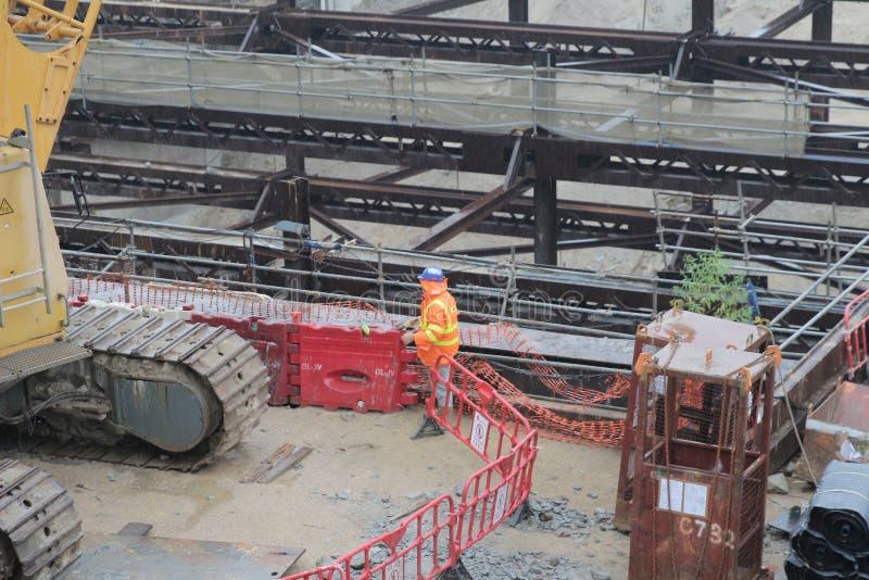 De het westen kowloon spoorweg ontwikkelt plaats stock foto's