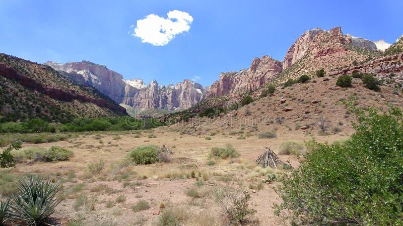 De het Westentempel in Zion National Park royalty-vrije stock fotografie