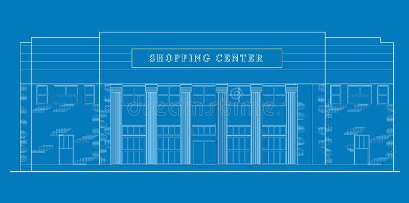 De het winkelcentrumbouw van de wandelgalerij stock illustratie