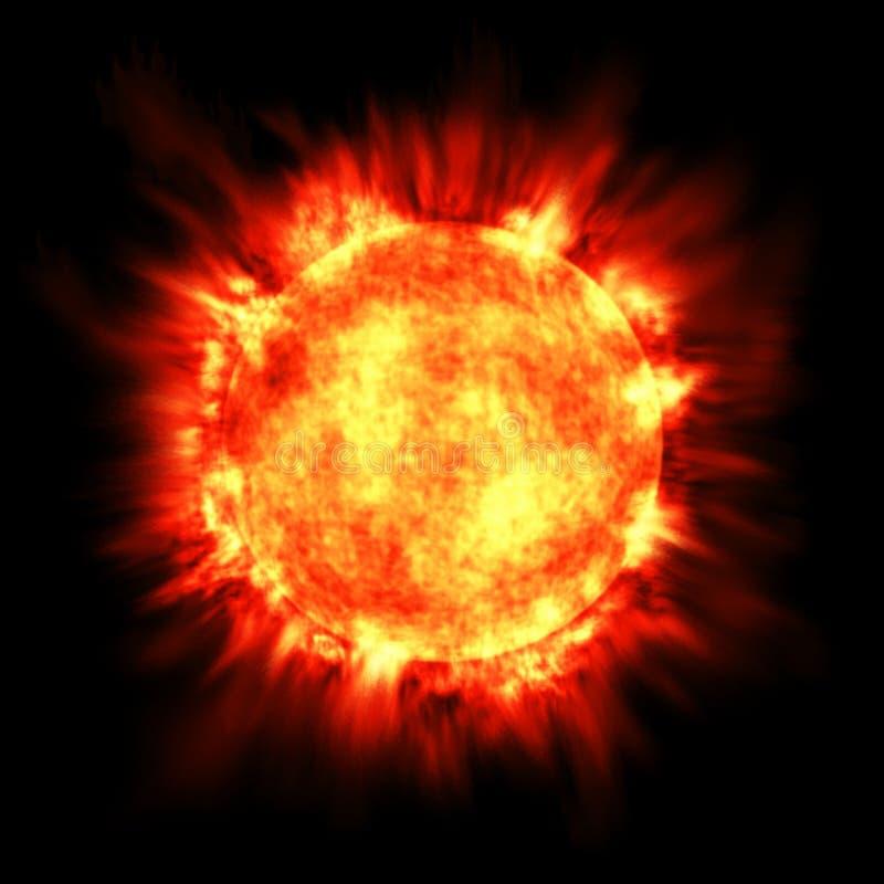 De Hete Brand van de Fusie van de Astronomie van de ZonneGloed van de Ster van de zon stock illustratie