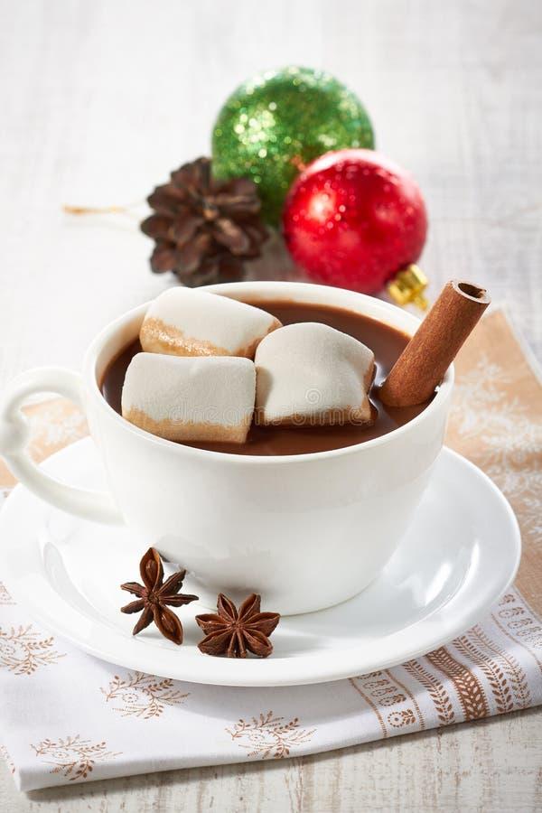 De Hete Chocolade van de winter stock afbeelding