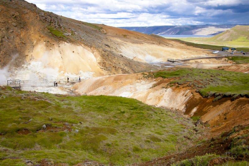 De hete lentes - IJsland stock fotografie
