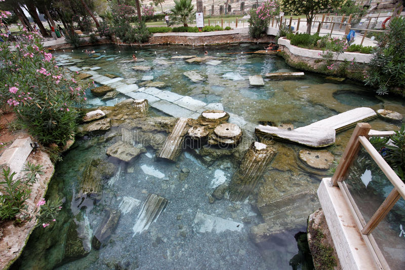 De Hete Lentes Turkije van Hierapolis stock foto