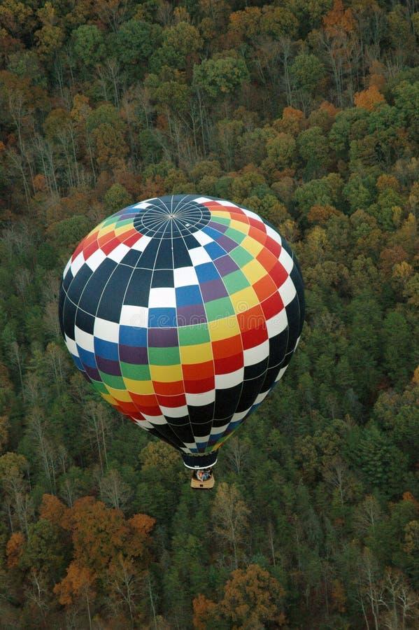 De hete luchtballon photgrphed in Bealton, toont de Vliegende Lucht van het Circus VA royalty-vrije stock foto's