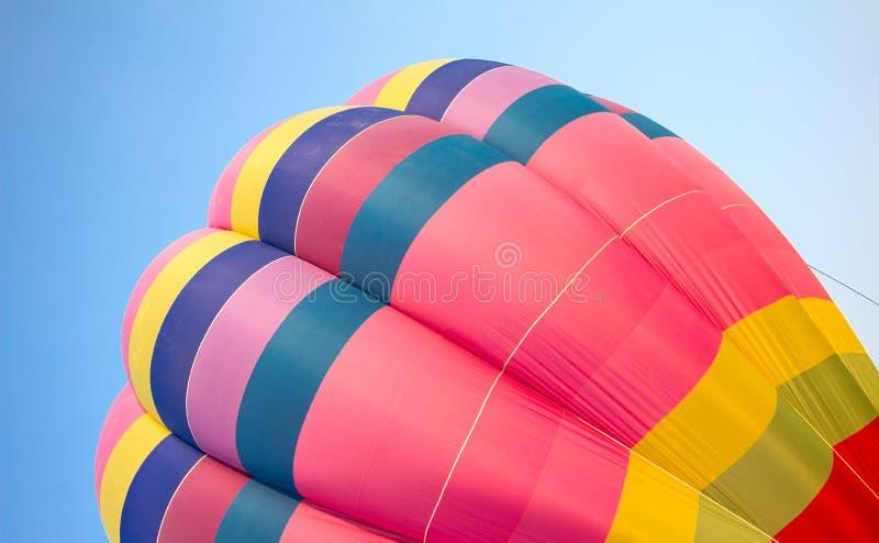 De hete luchtballon photgrphed in Bealton, toont de Vliegende Lucht van het Circus VA stock afbeelding
