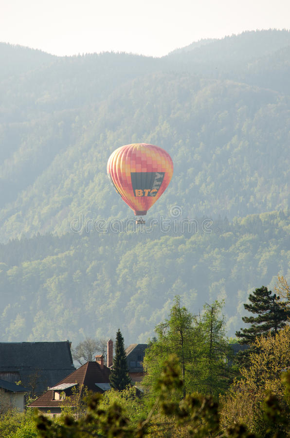 De hete luchtballon photgrphed in Bealton, toont de Vliegende Lucht van het Circus VA royalty-vrije stock foto