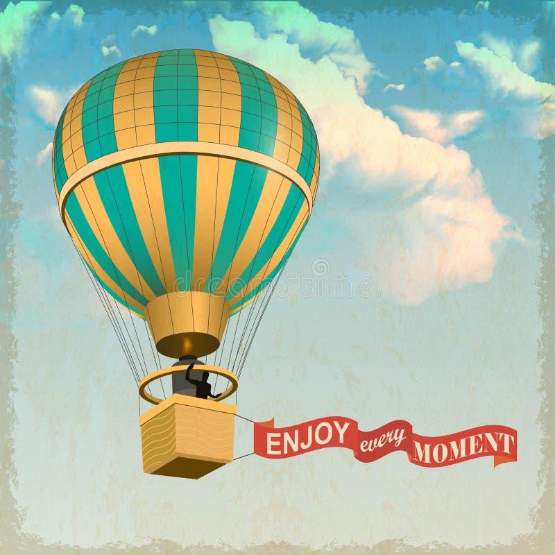 De hete luchtballon photgrphed in Bealton, toont de Vliegende Lucht van het Circus VA royalty-vrije illustratie