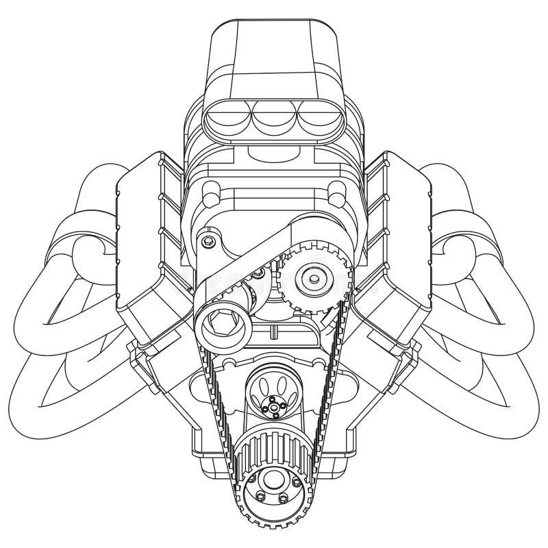 De hete Motor van de Staaf royalty-vrije illustratie