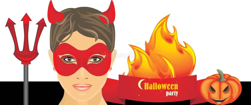 De hete partij van Halloween banner vector illustratie