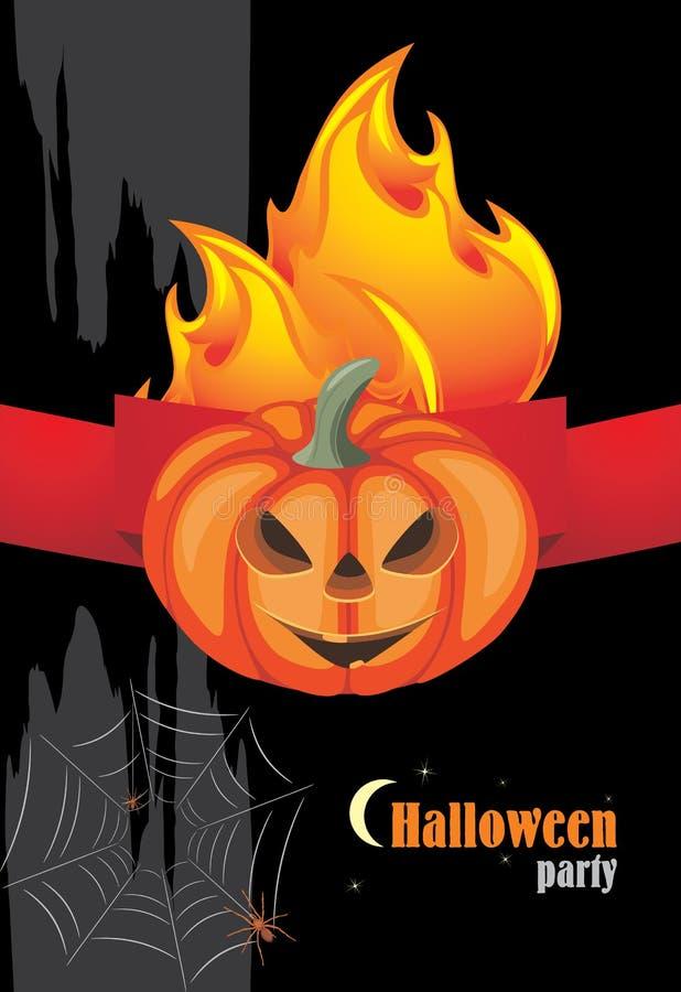 De hete partij van Halloween Banner voor vakantieontwerp royalty-vrije illustratie