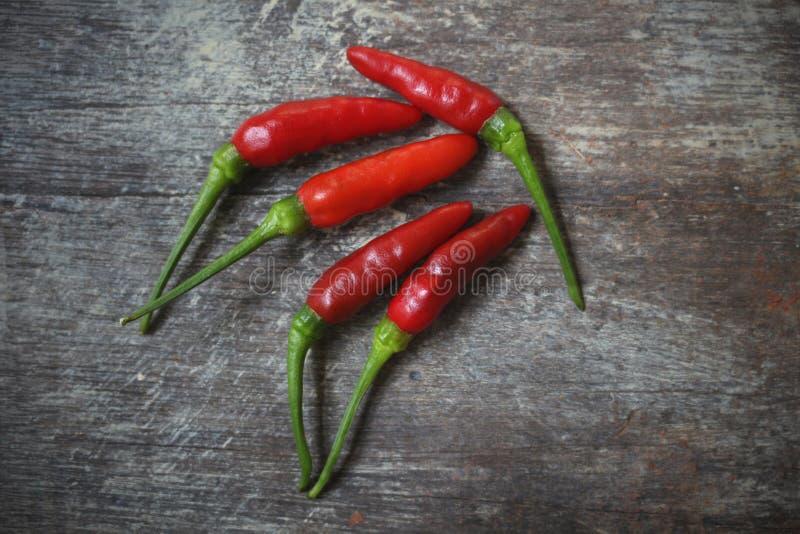 De hete peper van de Spaanse peper stock afbeeldingen