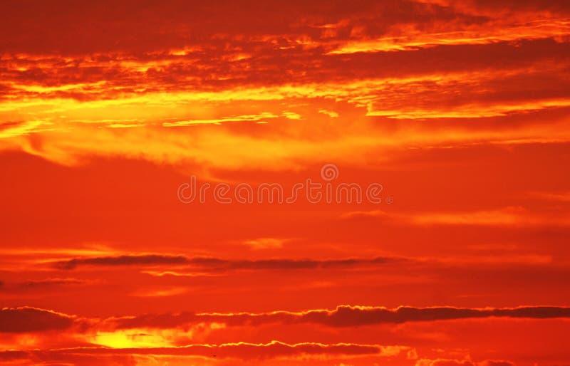 De hete zonsondergang van de brand royalty-vrije stock foto