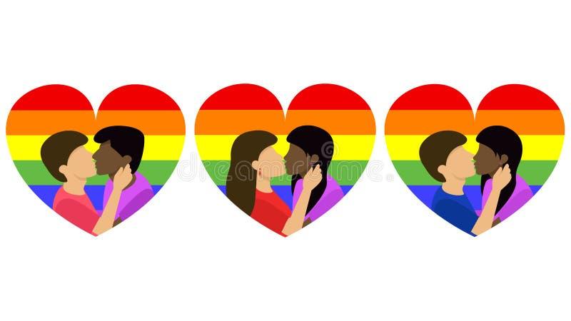 De heteroseksualiteit van homoseksualiteitbisexuality royalty-vrije illustratie