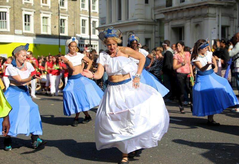 De Heuvel Carnaval van Notting - Dans royalty-vrije stock afbeeldingen