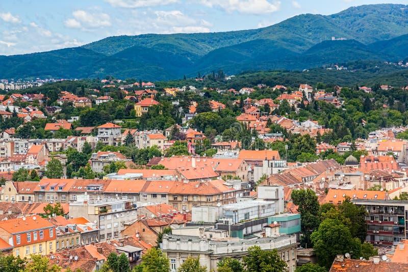De heuvel Sljeme van Zagreb royalty-vrije stock afbeelding