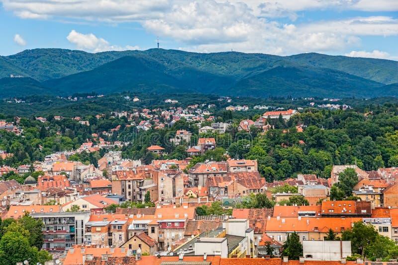 De heuvel Sljeme van Zagreb stock afbeelding