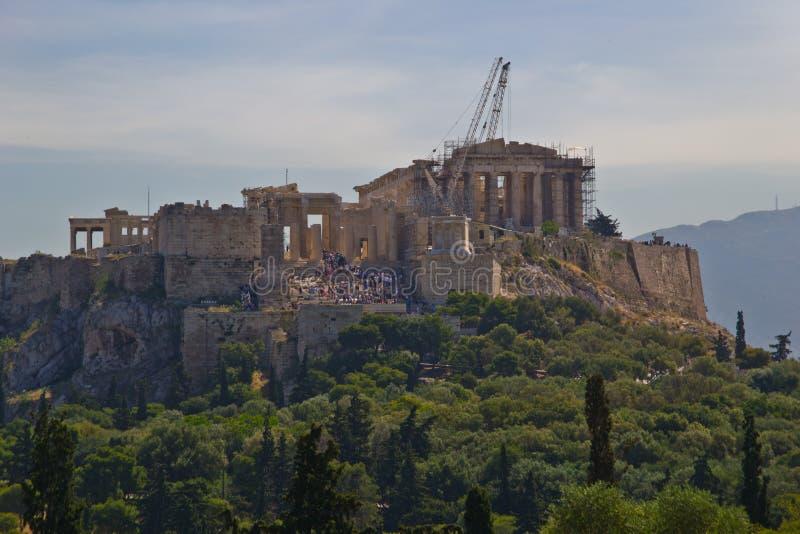 De Heuvel van de akropolis stock foto