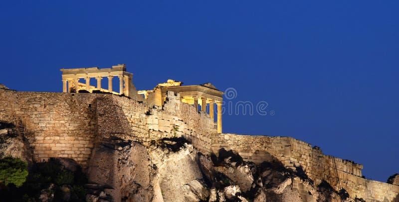 De heuvel van de Akropolis van Athene stock foto
