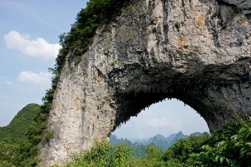 De heuvel van de maan, China royalty-vrije stock foto's