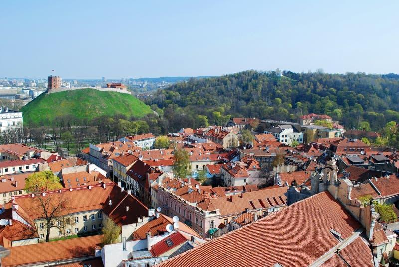 De Heuvel van Drie Kruisen in Vilnius stock fotografie