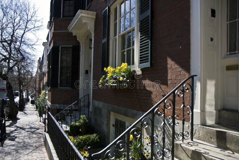 De Heuvel van het baken in Boston stock foto's