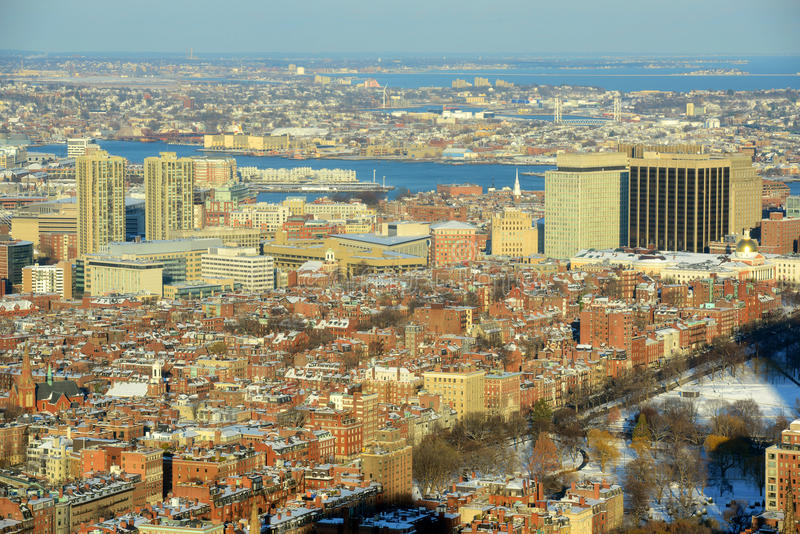 De Heuvel van het baken, Boston, Massachusetts stock fotografie