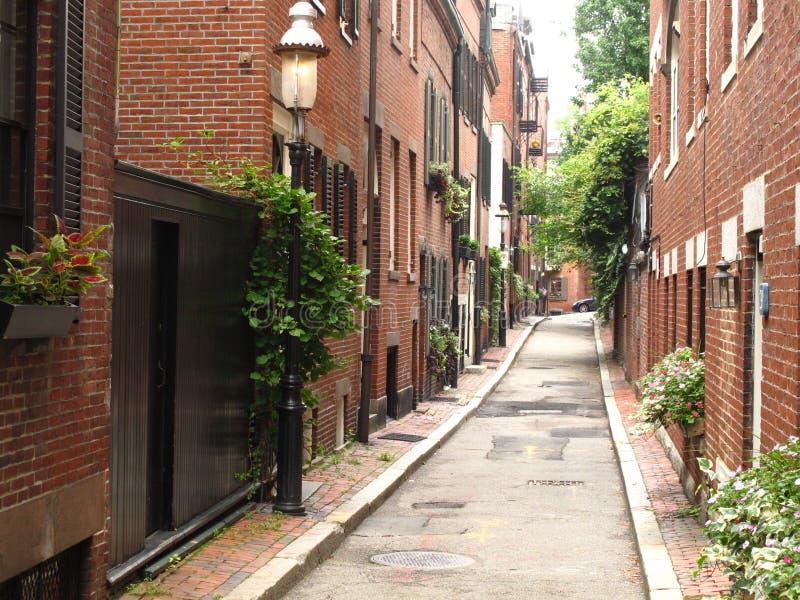 De Heuvel van het baken, de steeg van Boston stock foto's