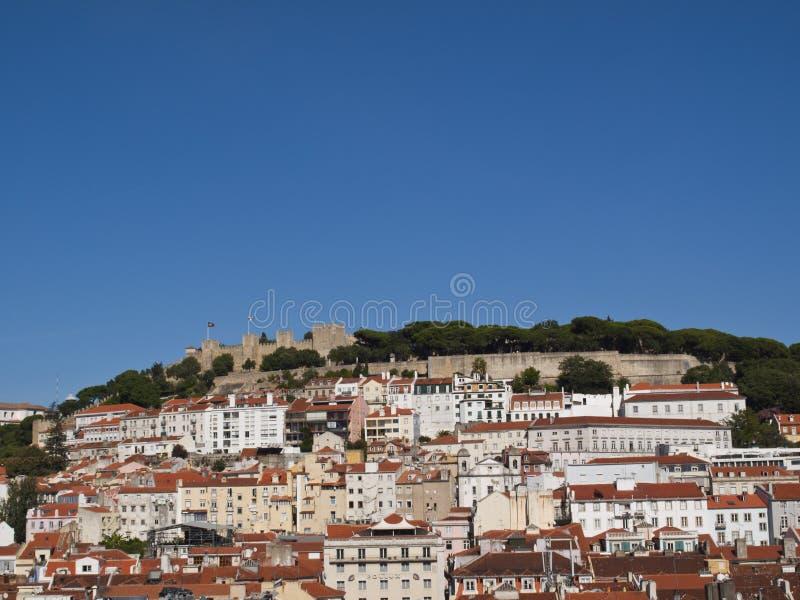 De heuvel van het Kasteel van Lissabon royalty-vrije stock afbeeldingen