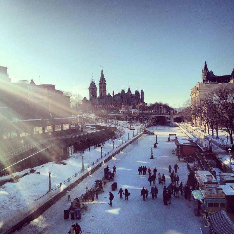 De Heuvel van het Parlement stock foto's