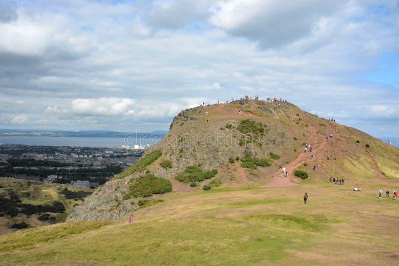 De Heuvel van koningsArthur ` s, Edinburgh royalty-vrije stock foto's