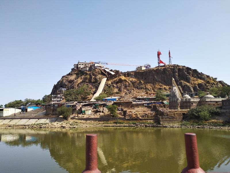 De Heuvel van Pavagadh van de Pavagadhtempel/Kalika Mata Temple - Gujarat royalty-vrije stock fotografie
