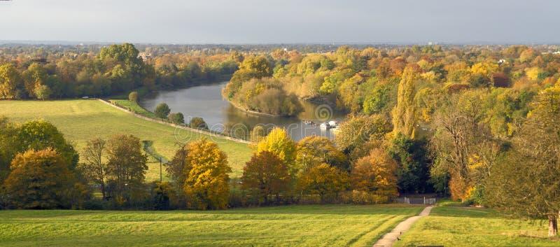 De Heuvel van Richmond in de Herfst stock afbeeldingen