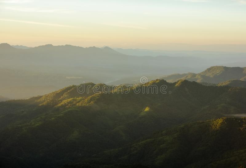 De heuvels van Aizawl royalty-vrije stock fotografie