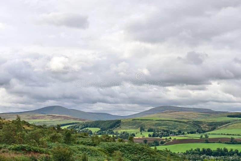 De Heuvels van cheviot, Northumberland, Engeland, het UK stock fotografie