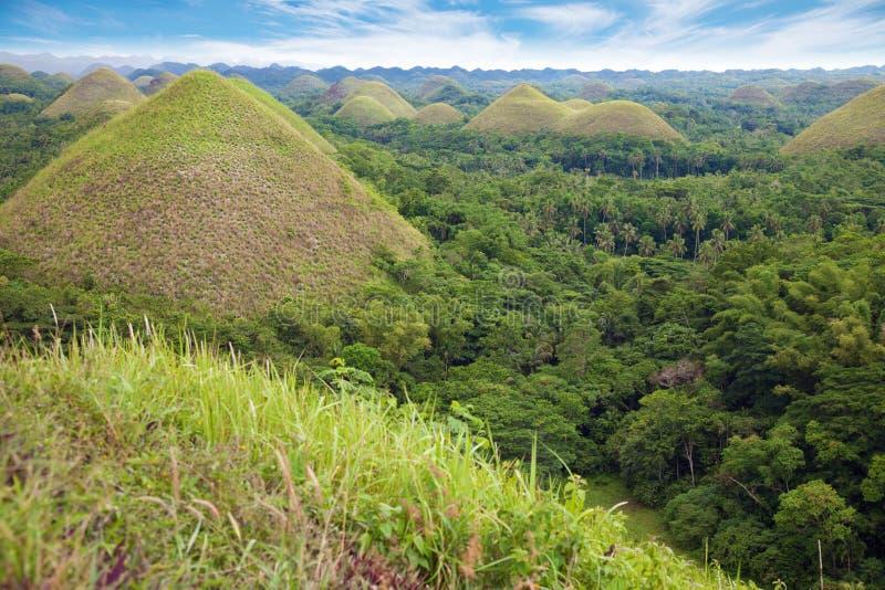 De Heuvels van de chocolade in Bohol royalty-vrije stock fotografie