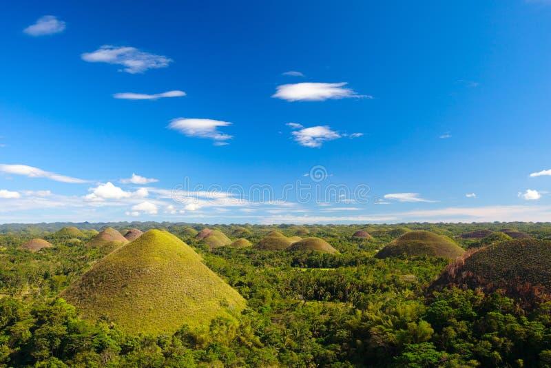 De Heuvels van de Chocolade van Bohol royalty-vrije stock foto