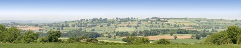 De heuvels van het platteland royalty-vrije stock fotografie