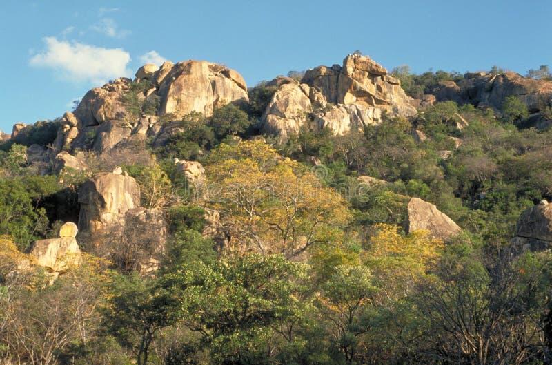 De Heuvels van Matopos stock fotografie